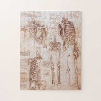 Human Anatomy Skeletons by Leonardo da Vinci Jigsaw Puzzle