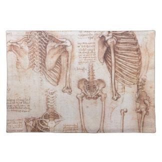 Human Anatomy Skeletons by Leondardo da Vinci Placemat