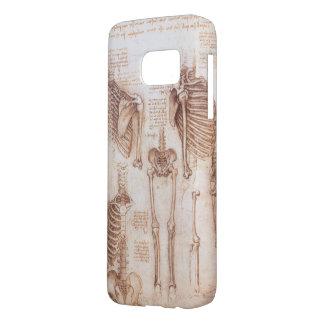 Human Anatomy Skeletons by Leondardo da Vinci Samsung Galaxy S7 Case