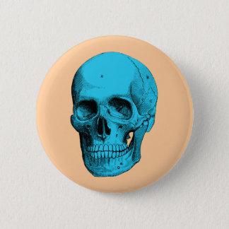 Human Anatomy Skull Button