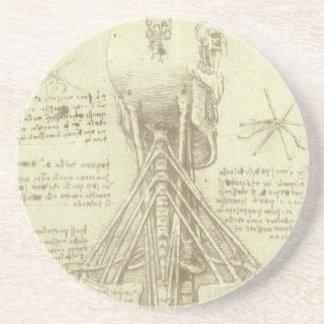 Human Anatomy Spinal Column by Leonardo da Vinci Coaster