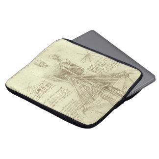 Human Anatomy Spinal Column by Leonardo da Vinci Laptop Sleeve