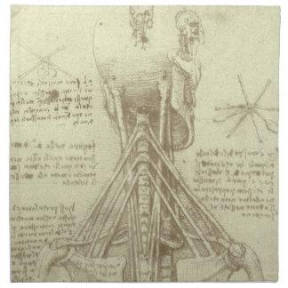 Human Anatomy Spinal Column by Leonardo da Vinci Napkin