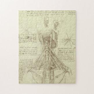 Human Anatomy Spinal Column by Leonardo da Vinci Puzzle