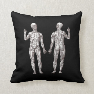 Human Anatomy - The Muscular System Throw Pillow