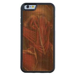 Human anatomy vintage neck shoulders muscles carved cherry iPhone 6 bumper case