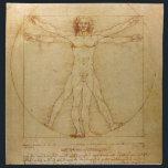 "Human Anatomy, Vitruvian Man by Leonardo da Vinci Cloth Napkin<br><div class=""desc"">Human Anatomy,  Vitruvian Man by Leonardo da Vinci   vitruvian man, leonardo da vinci, human anatomy, da vinci, da vinci drawing, da vinci sketch, da vinci study, body of a man, vintage, </div>"