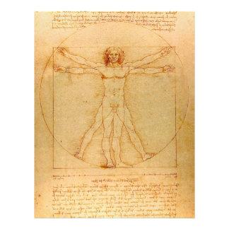Human Anatomy, Vitruvian Man by Leonardo da Vinci Flyer