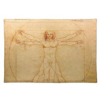 Human Anatomy, Vitruvian Man by Leonardo da Vinci Placemat