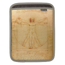 Human Anatomy, Vitruvian Man by Leonardo da Vinci Sleeve For iPads