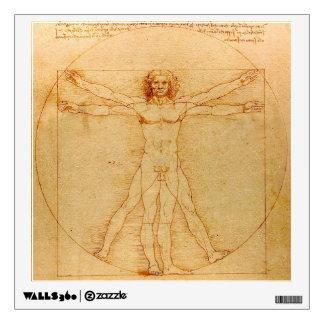 Human Anatomy, Vitruvian Man by Leonardo da Vinci Wall Decal