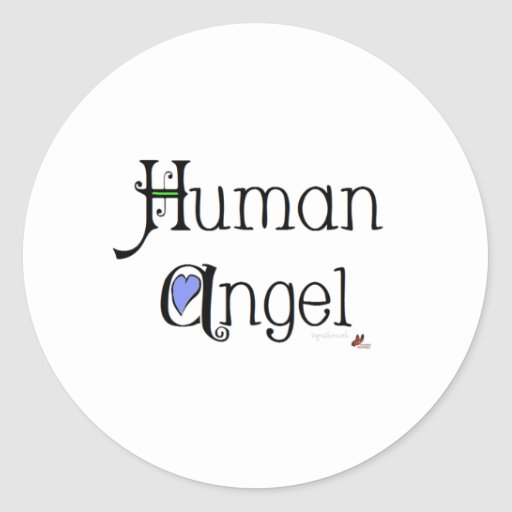 Human Angel Classic Round Sticker