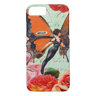 Human-Animal Hybrid Butterfly Woman with Roses iPhone 7 Case