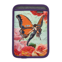 Human-Animal Hybrid Butterfly Woman with Roses Sleeve For iPad Mini