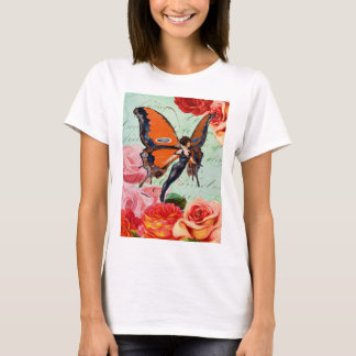 Human-Animal Hybrid Butterfly Woman with Roses T-Shirt