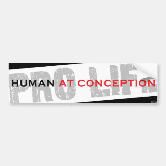 Human At Conception Car Bumper Sticker