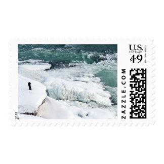 Human at Gullfoss Stamp