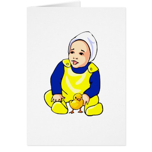 human baby chick blue sleeves.png card