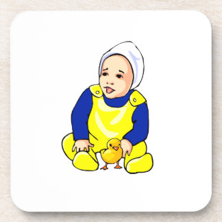 human baby chick blue sleeves.png drink coaster