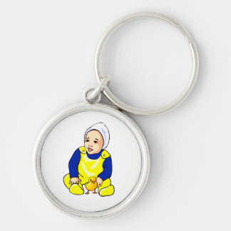 human baby chick blue sleeves.png keychain