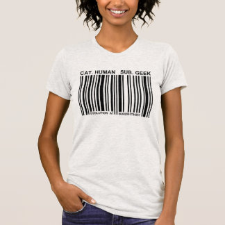 Human Barcode Funny Geek T-Shirt