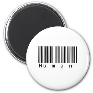 Human Barcode Really Scans! 2 Inch Round Magnet