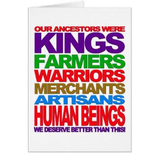 Human Beings Card