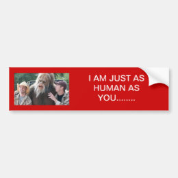 Human/Bigfoot Bumper Sticker