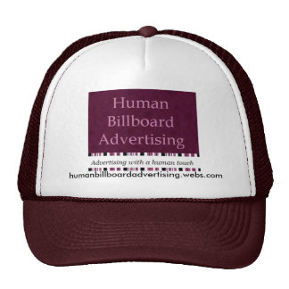 Human Billboard Advertising - Hat 1