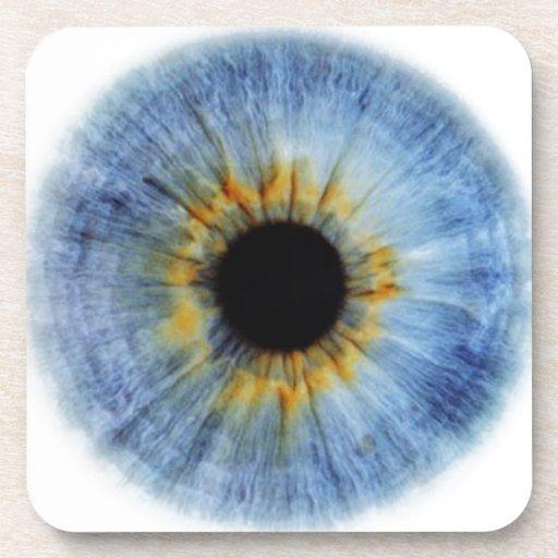 Human blue eyeball coaster