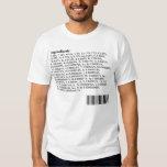 Human Body Ingredients: Periodic Table Shirts