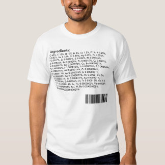 Human Body Ingredients: Periodic Table T Shirts