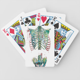 Human Body Rib Cage Bicycle Playing Cards