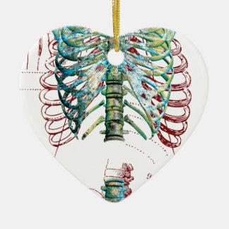 Human Body Rib Cage Ceramic Ornament