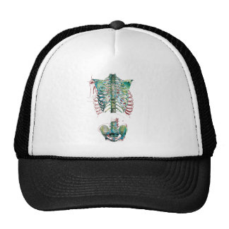 Human Body Rib Cage Trucker Hat