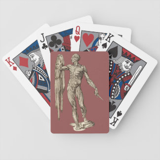 Human Body Skinned anatomy (Valverde) Bicycle Playing Cards