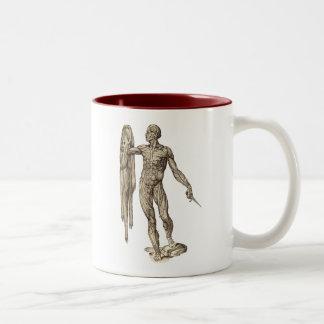 Human Body Skinned anatomy (Valverde) Two-Tone Coffee Mug