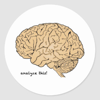 Human Brain: Analyze This! Classic Round Sticker