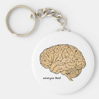 Human Brain: Analyze This! Keychain
