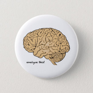 Human Brain: Analyze This! Pinback Button
