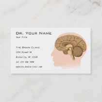 Human brain anatomy Business Card