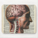 Human Brain Anatomy Mouse Pad
