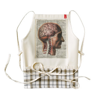 Human Brain Anatomy Zazzle HEART Apron