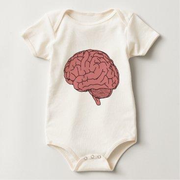 gridly Human brain baby bodysuit