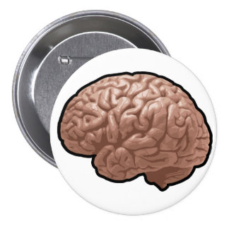 Human Brain Button