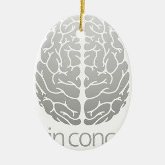 Human brain concept ceramic ornament