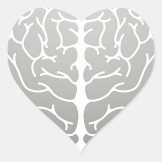 Human brain concept heart sticker