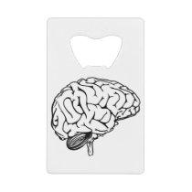 Human Brain Credit Card Bottle Opener
