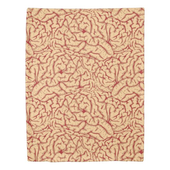 Human Brain | Creepy Brains Galore Funny Halloween Duvet Cover