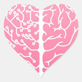Human brain electrical circuit heart sticker